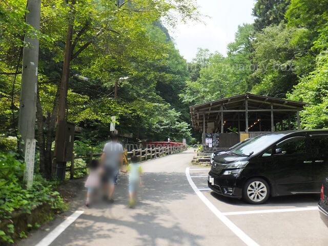 阿弥陀ヶ滝への道